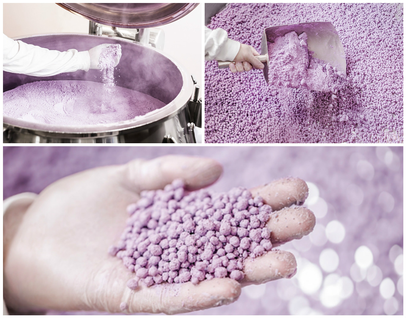 Guerlain Factory production of Meteorites Pearls