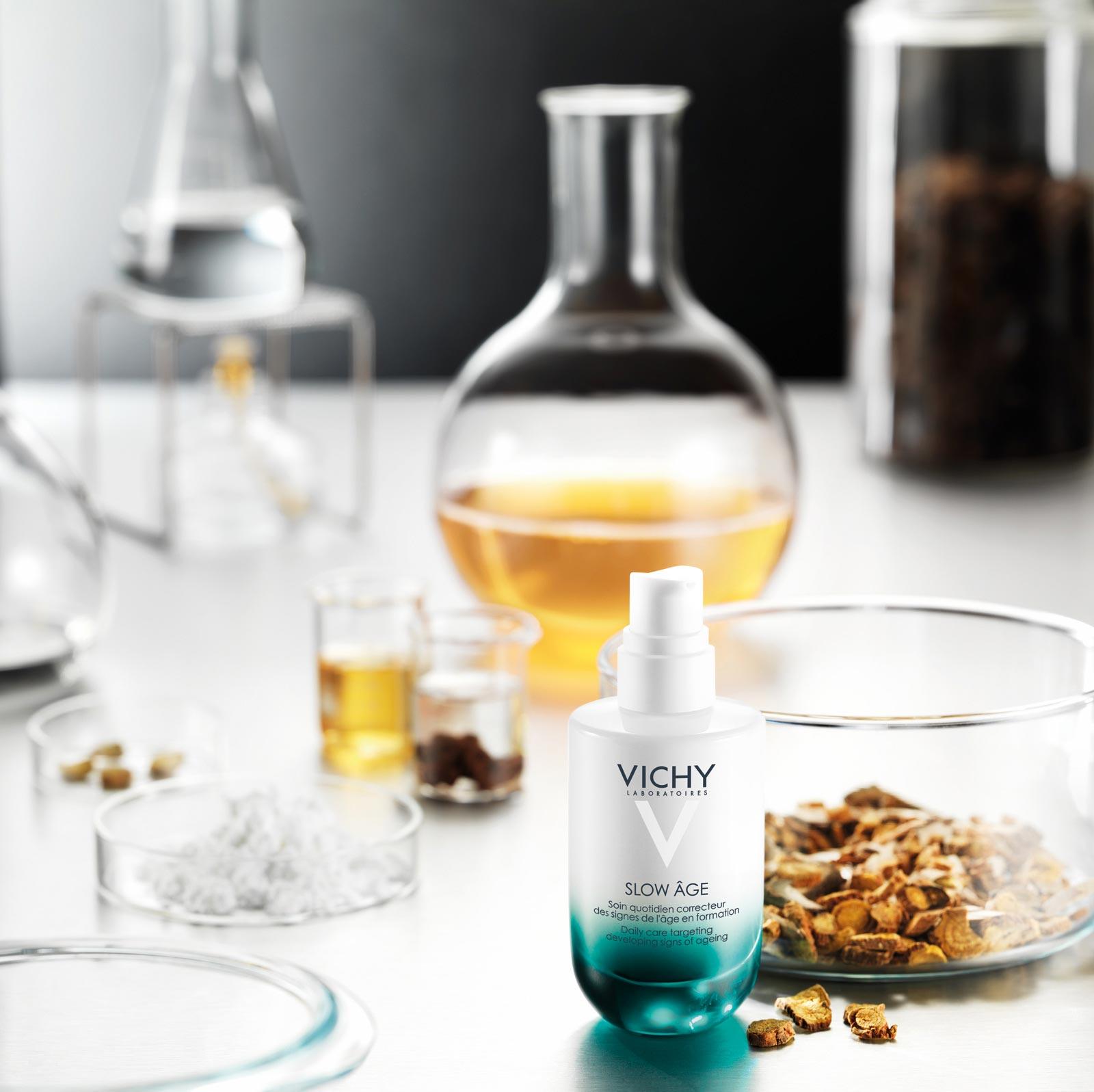 vichy slow age cream in laboratory