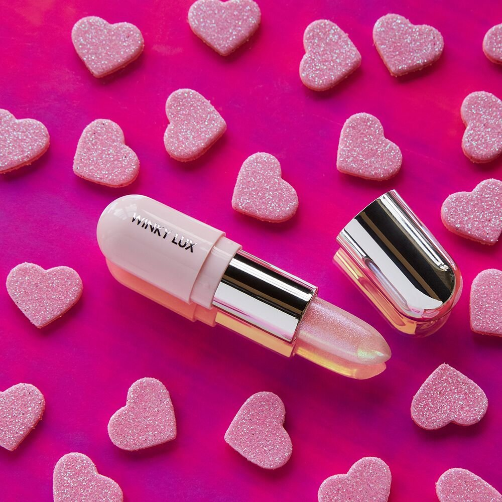 winky lux glimmer balm hearts